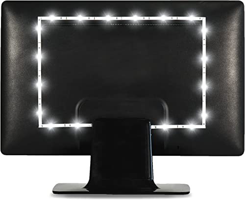 "Luminoodle Bias Lighting, Backlight Kit for Monitors up to 24"" - USB LED Light Strip - Computer Monitor Backlight - T..."