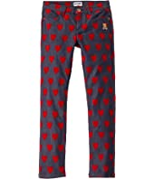 Moschino Kids - Denim Pants w/ All Over Hearts Print (Big Kids)