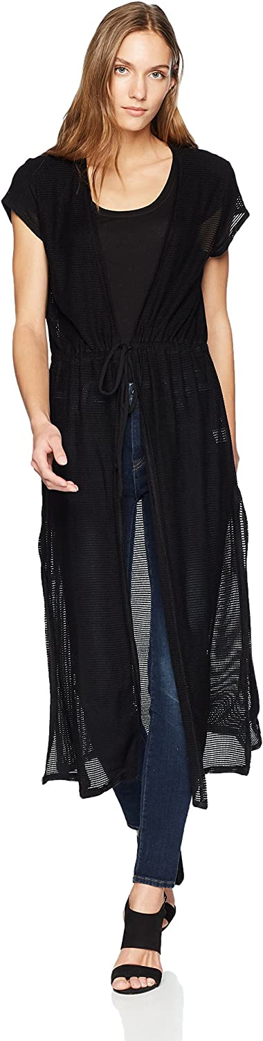 LAmade Women's Mesh Duster with Side Slits