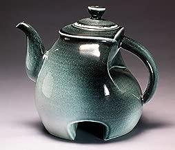 Handmade Decorative Porcelain Art Teapot (Black, Gray and White)