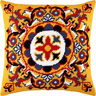"""Needlepoint//Tapestry Pillow Cover DIY Kit /""""Asters/"""""""
