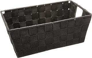 Whitmor Woven Strap Small Shelf Tote Black