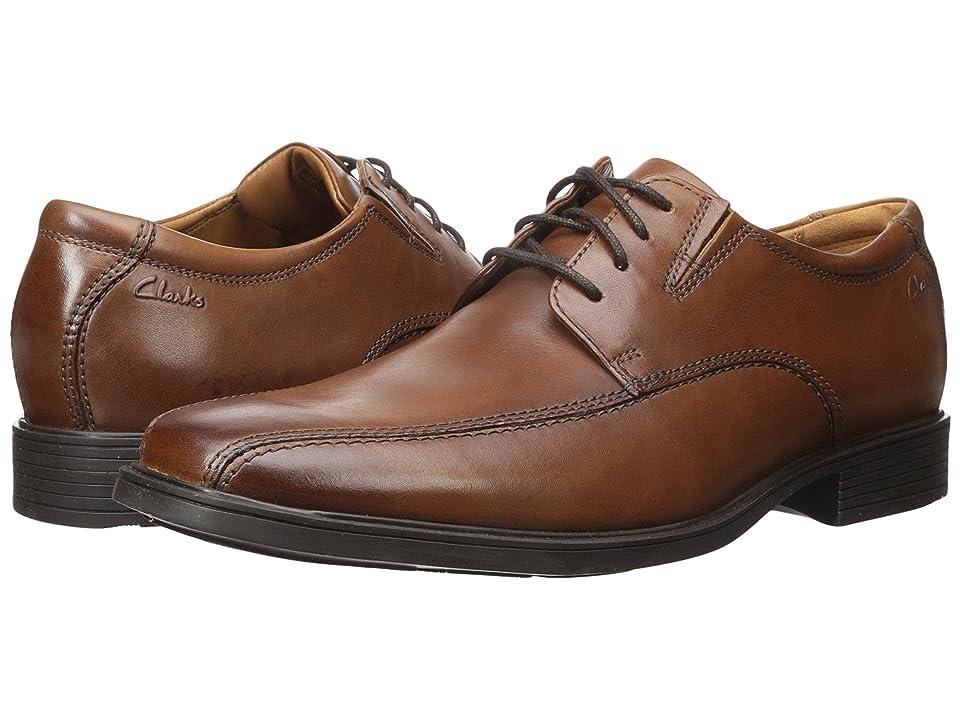 Clarks Tilden Walk (Dark Tan Leather) Men