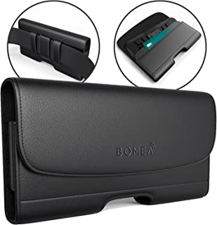 Bomea iPhone 8 6 6S iPhone 7 Leather Case Holster Belt Case with Clip/Loops Belt Pouch..
