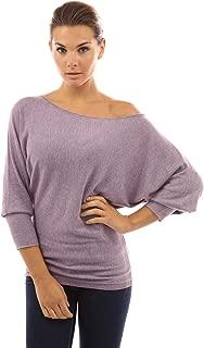 PattyBoutik Women One Shoulder Batwing Sweater Knit Top