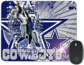 JNKPOAI Cowboys Mouse pad Make Unique Design Non-Slip Rubber Black Gaming Mouse Pad, Customized Rectangle Non-Slip Rubber Mousepad Gaming Mouse Pad