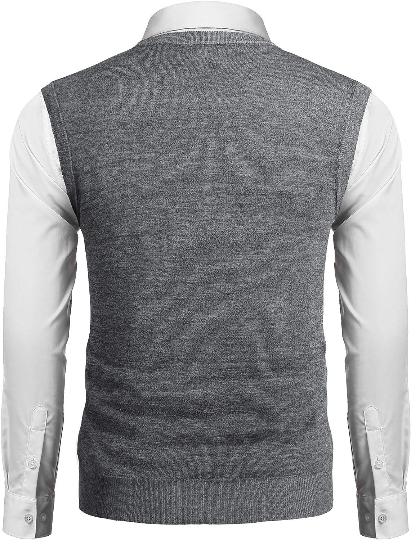COOFANDY Men/'s Sleeveless Sweater Vest Lightweight V-Neck Solid Cotton Vest Pullover