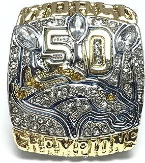Custom Rings 2015 Denver Broncos Super Bowl 50 Ring Peyton Manning