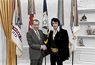 Elvis Presley with President Nixon King of Rock & Roll Color Photo 8x10 in. Glossy