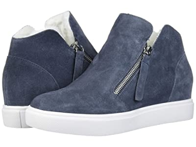 Steve Madden Caliber-F Wedge Sneaker (Grey Suede) Women