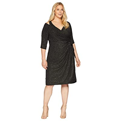 Kiyonna Evaline Wrap Dress (Gold Dust) Women