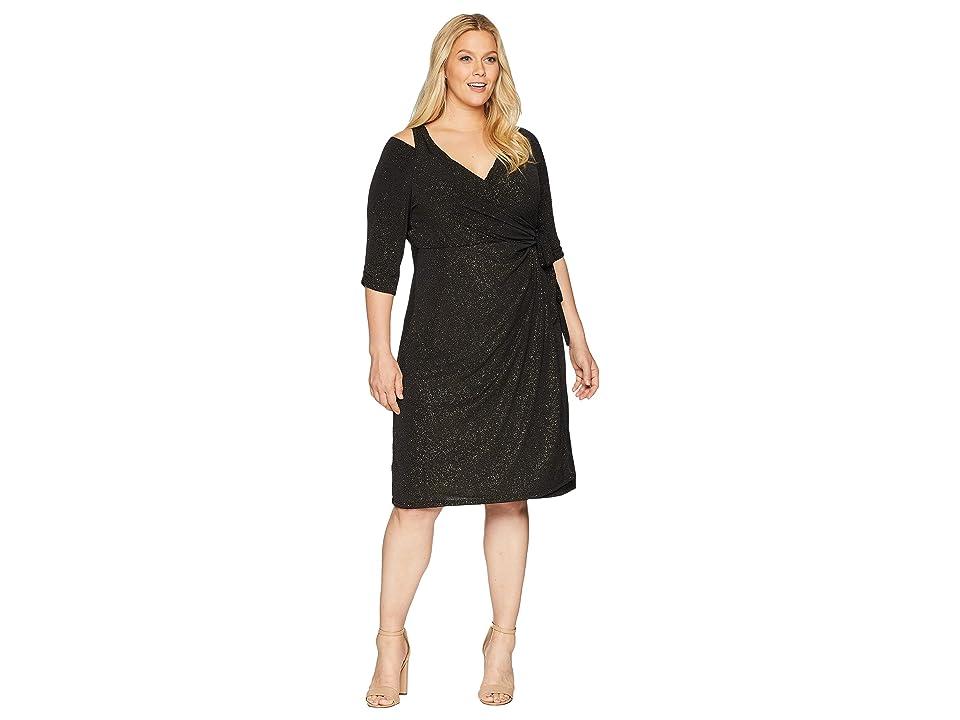 Kiyonna Evaline Wrap Dress (Gold Dust) Women