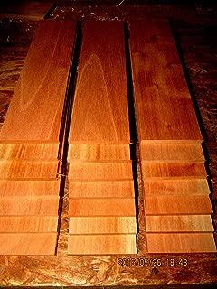 "Spanish Cedar Kiln Dried Sanded Exotic Wood Lumber Boards, 12"" X 3"" X 1/8"", Set of 16"