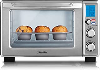 Sunbeam BT7100 Quick Start Digital Mini Oven   Electric Toaster Oven & Grill   22L   1700W   10 Cooking Pre-Sets   Wire Ra...