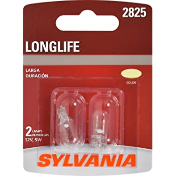 SYLVANIA 2825 Long Life Miniature Bulb, (Contains 2 Bulbs)