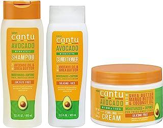 Cantu Avacado Hydrating Cream Shampoo, Conditioner & Curling Cream