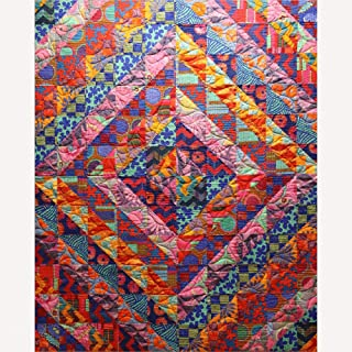 Kaffe Fassett Big Diamond Quilt Kit Featuring Kaffe Fassett Artisan Fabric (Top, Binding, and Backing)