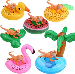 YUYUSO 6 Pack Bearded Dragon Lizard Bathe Float Bathtub Toy Enjoy The Bath Time with Bearded Dragon