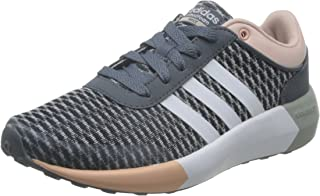 adidas Neo Womens Cloudfoam Race Lace Up Running Active Trainers Sneakers - Grey