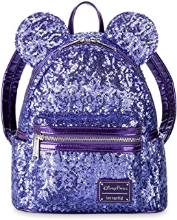 Disney Parks Minnie Mouse Purple Potion Ears Sequined Loungefly Backpack