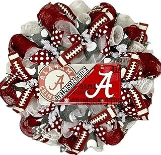 Alabama Crimson Tides Football Sports Wreath Handmade Deco Mesh