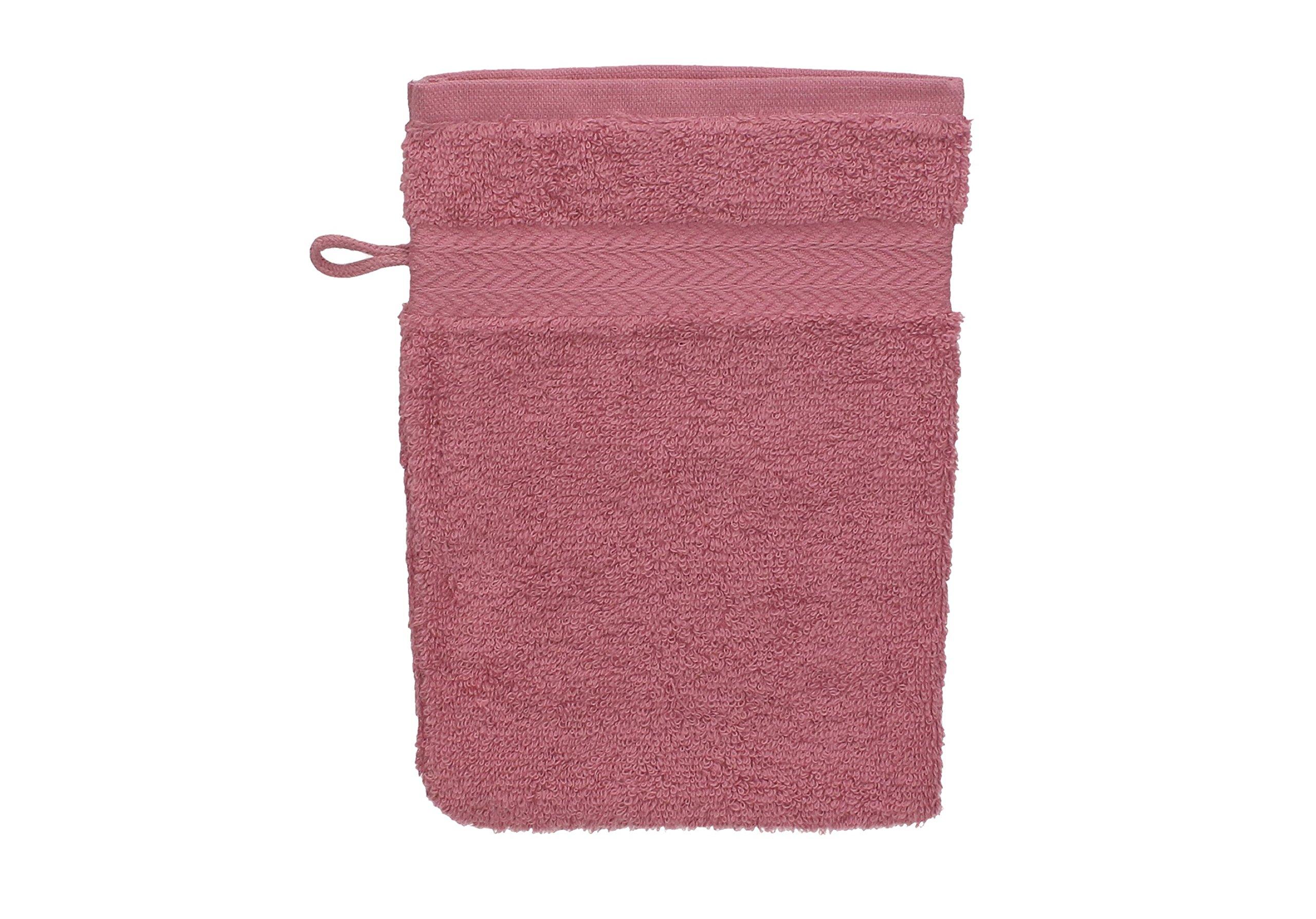 Betz Paquete de 10 Piezas de Manoplas de baño Guantes para lavarse tamaño 16x21 cm Colgador de cordón 100% algodón Premium de Color Rosa y Rojo Oscuro: Amazon.es: Hogar