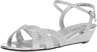 Touch Ups womens Lena Wedge Sandal, Silver, 8.5 US