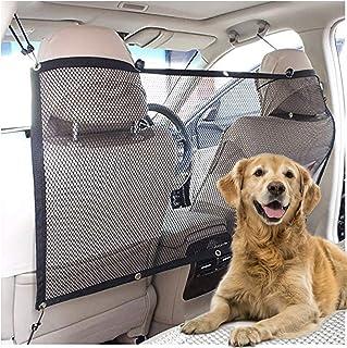 Universal Stretchy Car Dog Barrier /& Mesh Cargo Net Hook Pouch Holder Disturbing Stopper from Children and Pets as Car Backseat Barrier Net JiatuA Car Pet Barrier Auto Seat Net Organizer