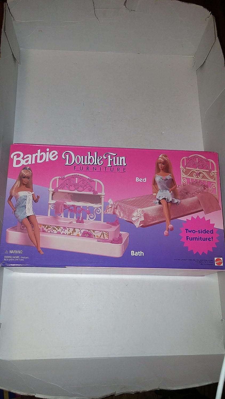 Barbie Double Fun Furniture Bed Bath