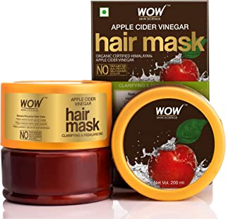 WOW Skin Science Apple Cider Vinegar Hair Mask with Apple Cider Vinegar & Sweet Almond Oil, 200mL