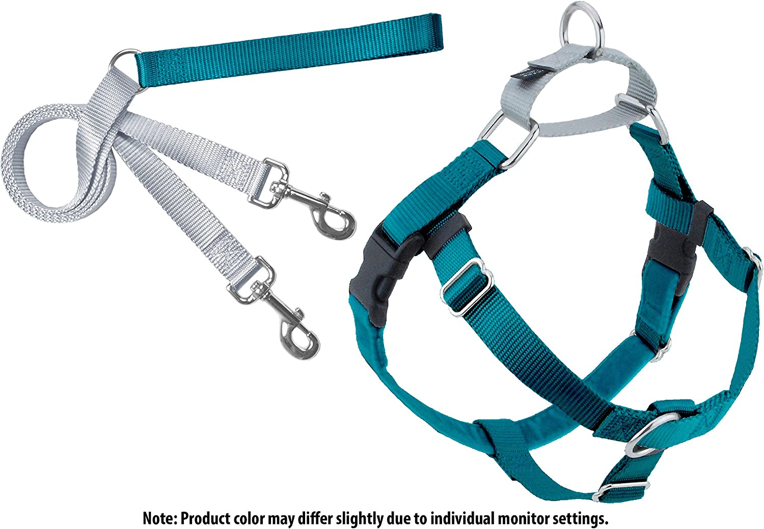 2 Hounds Design PK SM TL Freedom NoPull Dog Harness with Leash, (5 8  Wide), Teal, Small