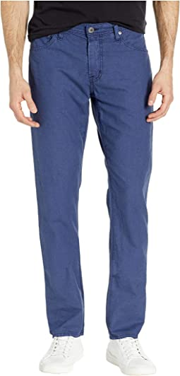 Graduate Tailored Leg Linen Pants in Sulfur Indigo Ink