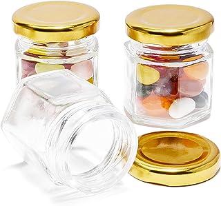 Juego de 36 mini tarros de Mason – tarro transparente con