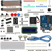 EEEKit Super Starter Kit for Arduino UNO R3, Suitable for DIY Enthusiasts and School Teaching Kit with UNO Board, Breadboard, Resistor, LCD, USB Cable