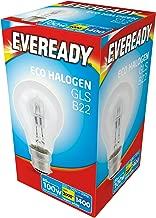 10 x 80w (100w) Halogen GLS Light Bulb B22 BC Bayonet Cap 240v (Eveready S10136)