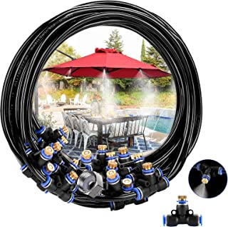 NUOQI Misting Cooling System, 49.2FT (15M) Misting Line Water Mister for Outside Patio Garden Umbrellas Greenhouse