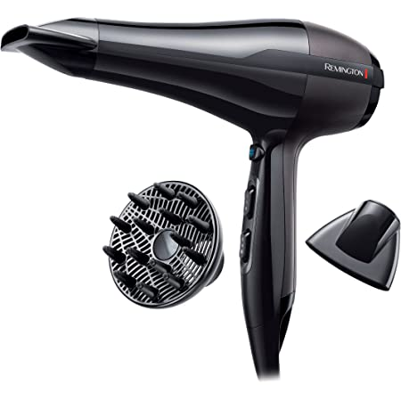 Remington AC5999 Pro-Air AC Asciugacapelli Professionale, flusso d'aria: 130 km/h, 2300W, Nero