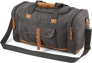 Plambag Canvas Luggage Duffel Bag Travel Tote Shoulder Bag(Grey)
