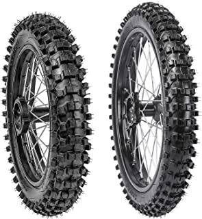 WPHMOTO 70/100-17 Front + 90/100-14 Rear Wheels Tires and Rim Inner Tube With 15mm Bearing Assembly for Dirt Pit Bikes