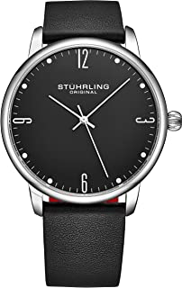 Mens Watch Calfskin Leather Strap - Dress + Casual Design - Analog Watch Dial with Date, 3997Z Watches for Men Collection
