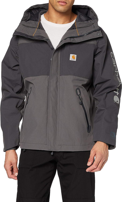 Carhartt Men's Virginia Beach Mall 102990 Angler Jacket Small Fashionable Shadow Gravel -