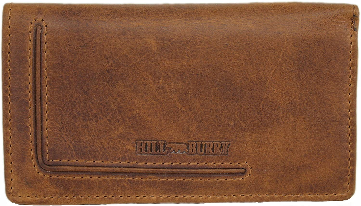 Hill Burry Women's Wallet Purse Natural Oiled Fullgrain Leather Vintage Style Dublin