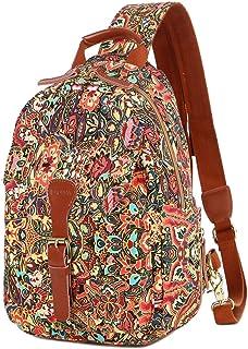 BAOSHA Women's colorful Small Cute Backpack Purse Chest Sling Bag Casual Daypack XB-06 (CS)