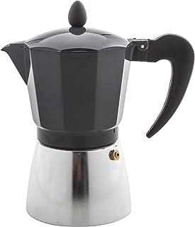 LEAF & BEAN DLE0040BK Stove Top Espresso Maker, Black