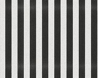 A.S. Création papel pintado de tejido-no-tejido con brillo Bling Bling negro blanco 10,05 m x 0,53 m 315151
