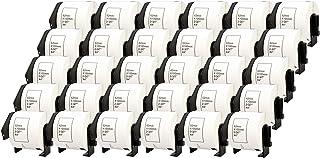 30x DK-11202 62 x 100 mm Rollos de Etiquetas para envíos (300 Etiquetas por Rollo) compatibles para Brother P-Touch QL-1110NWB QL-1100 QL-1060N QL-500 QL-570 QL-700 QL-710W QL-800 QL-810W QL-820NWB
