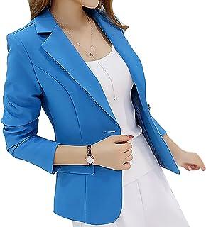 (アイユウガ)I-YUUGA レディース OLジャケット ビジネスジャケット 一つボタン ポケット付き エレガント フォーマル オフィス 就活 ビジネス 通勤 事務服