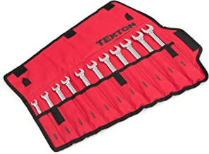 TEKTON Combination Wrench Set with Roll-up Storage Pouch, Metric, 8 mm - 19 mm, 11-Piece | WRN03389