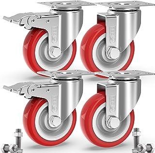 GBL - 4 Ruedas para Muebles + Tornillos 800KG | 125mm Ruedas
