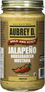 Aubrey D. Jalapeno Horseradish Gluten-Free Mustard, (12 oz).